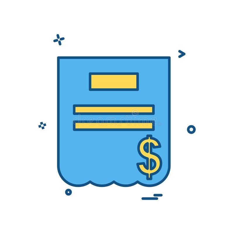 Vector del diseño del icono de la factura ilustración del vector