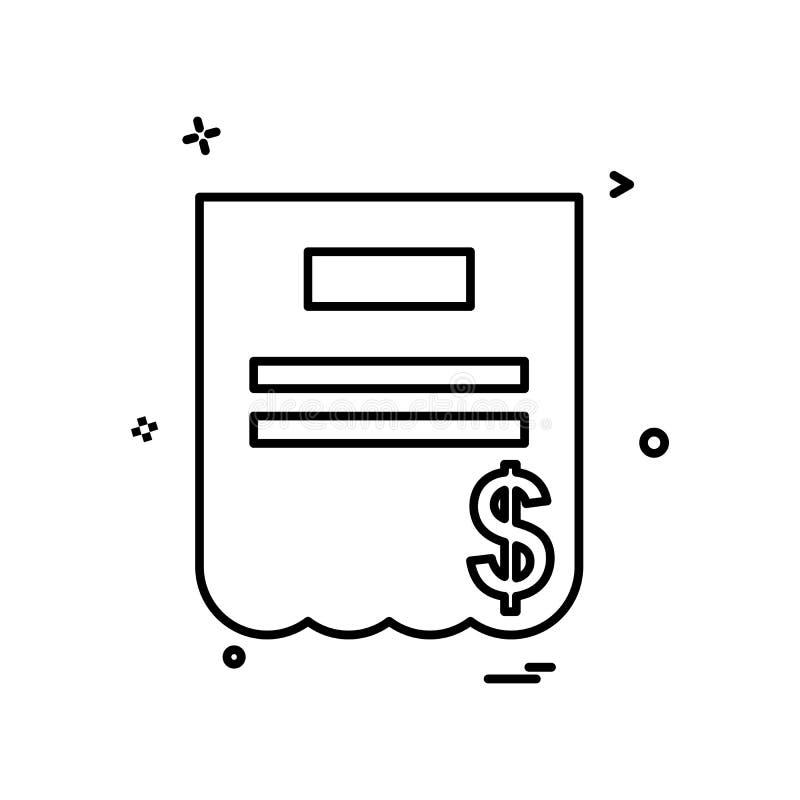 Vector del diseño del icono de la factura libre illustration