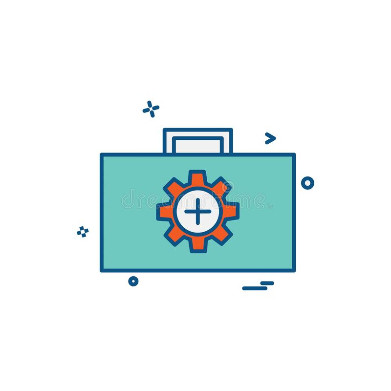 Vector del diseño del icono del engranaje stock de ilustración