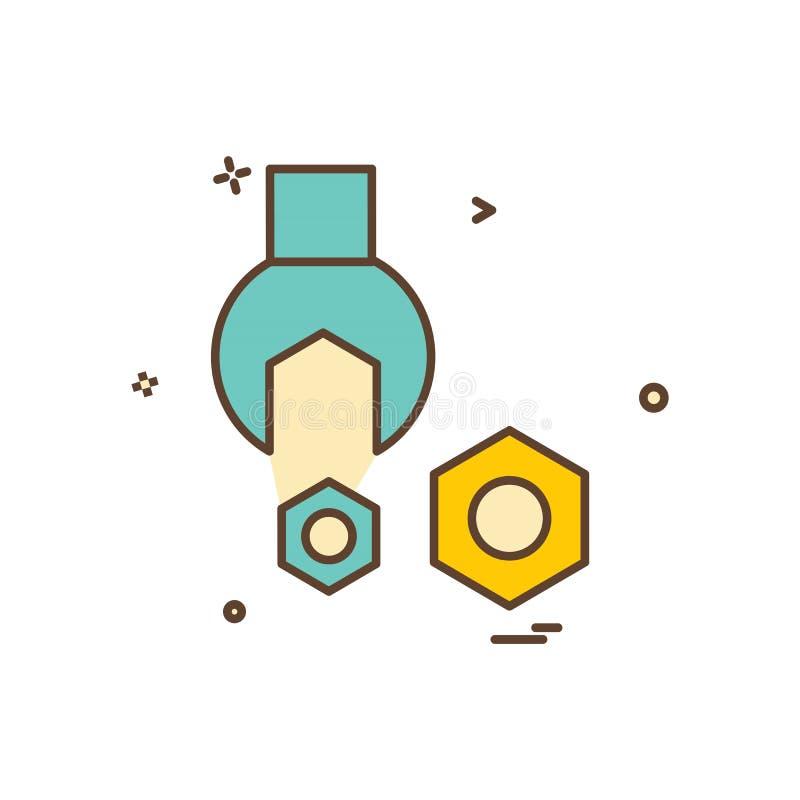 Vector del diseño del icono del engranaje ilustración del vector