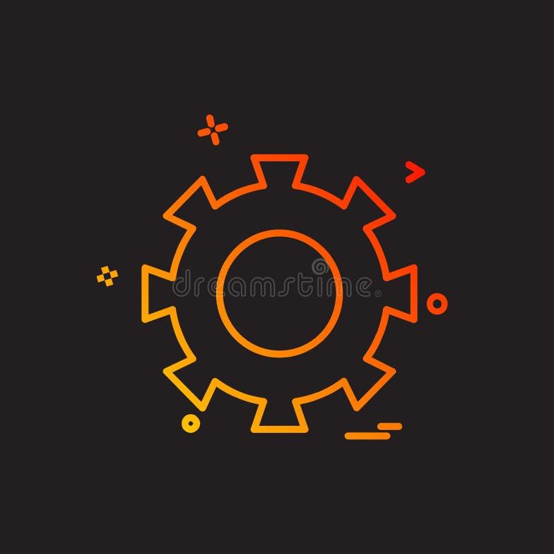 Vector del diseño del icono del engranaje libre illustration