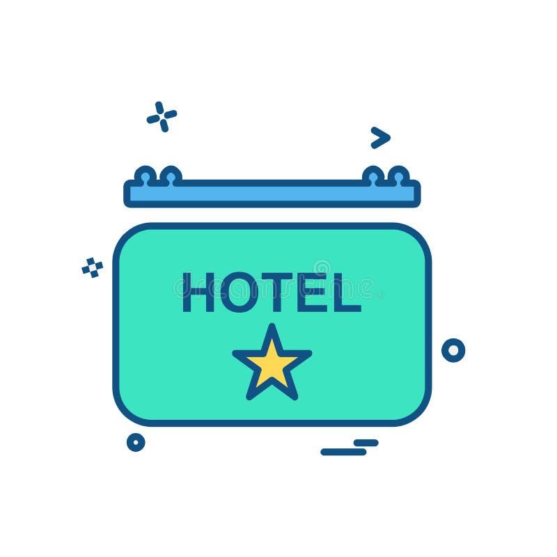 Vector del diseño del icono del hotel stock de ilustración