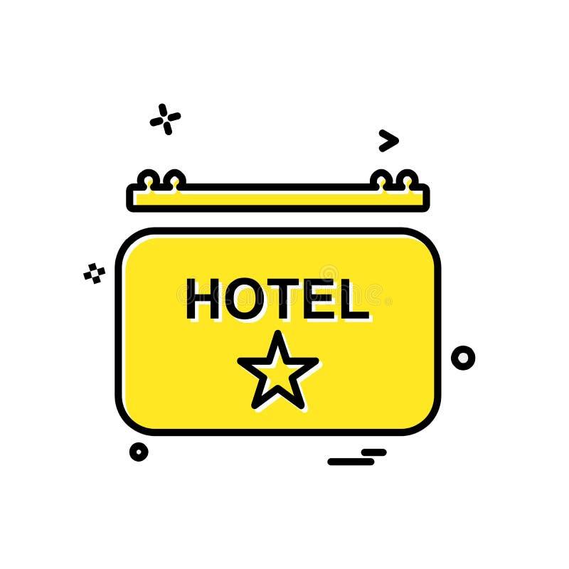 Vector del diseño del icono del hotel ilustración del vector