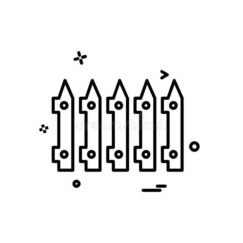 vector del diseño del icono del límite de la pared stock de ilustración