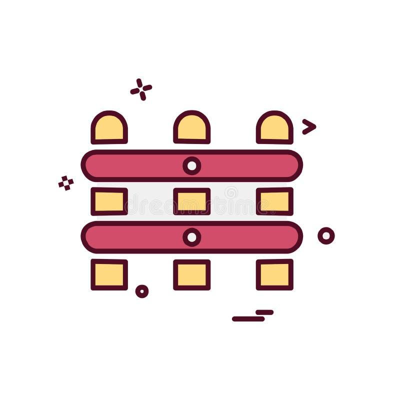 vector del diseño del icono del límite de la pared ilustración del vector