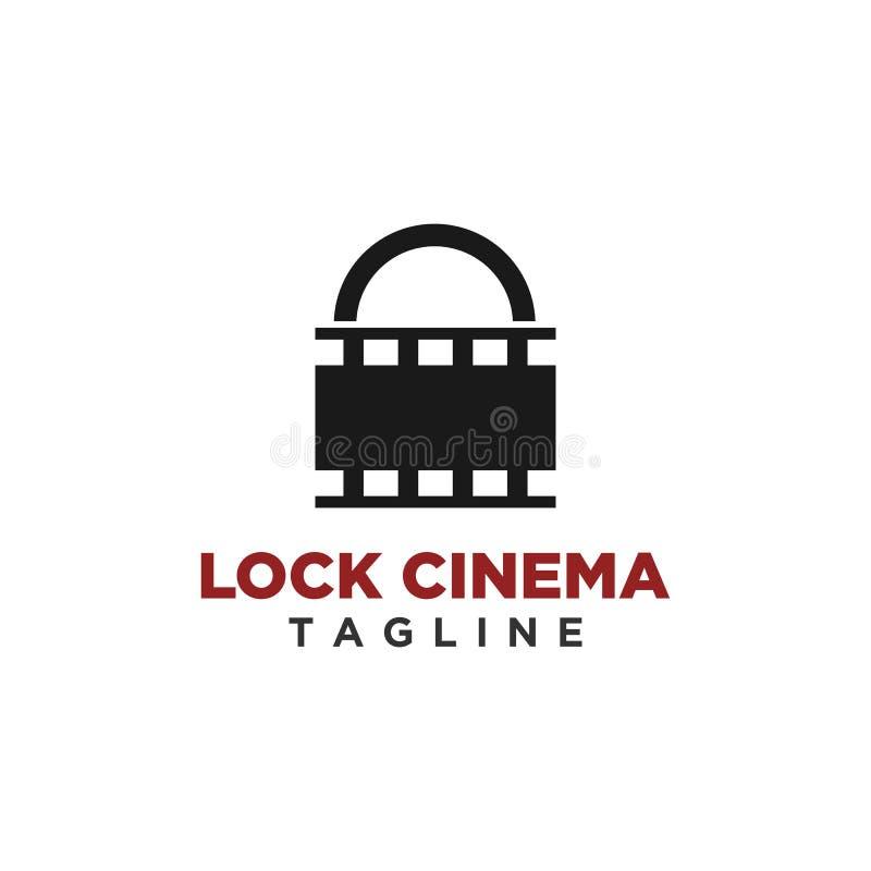 Vector del diseño del logotipo del cine de la cerradura libre illustration
