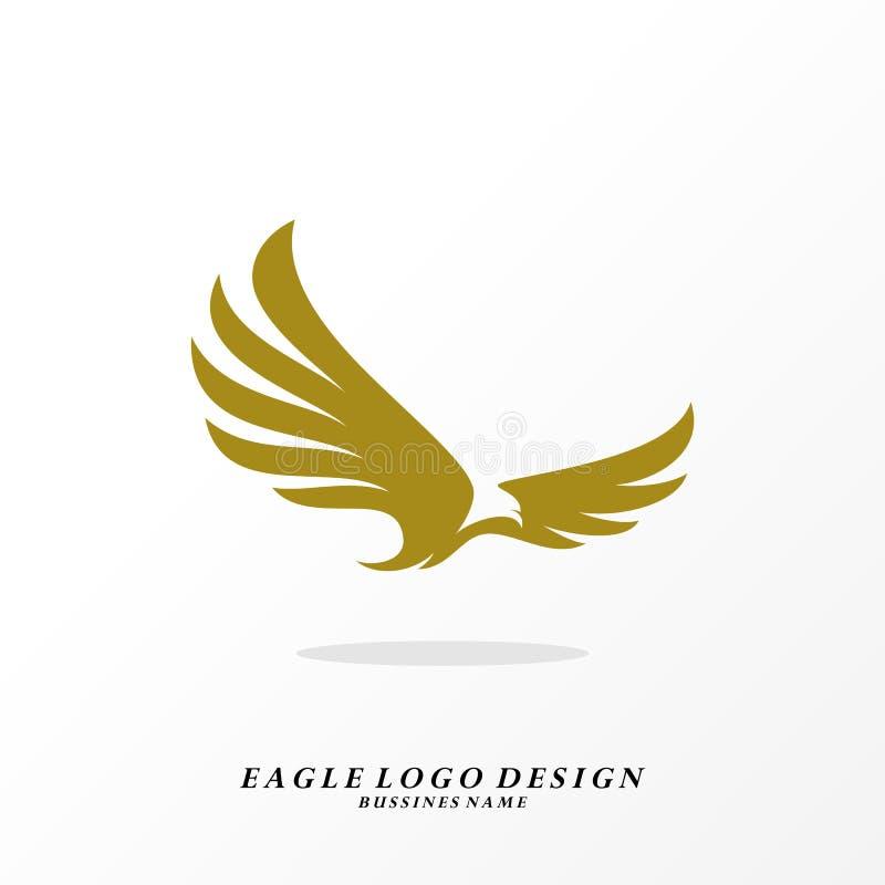 Vector del diseño del logotipo de Eagle Plantilla simple del logotipo de Eagle Símbolo del icono stock de ilustración