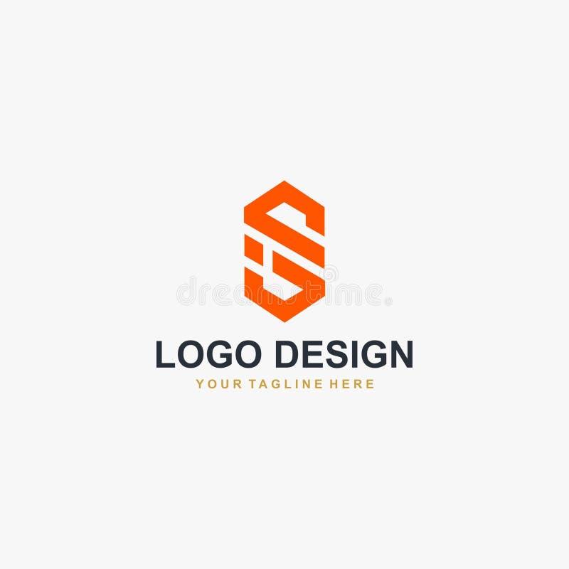 Vector del diseño del logotipo de la letra S del monograma ilustración del vector