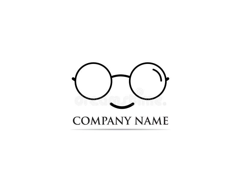 Vector del diseño del logotipo de los vidrios stock de ilustración
