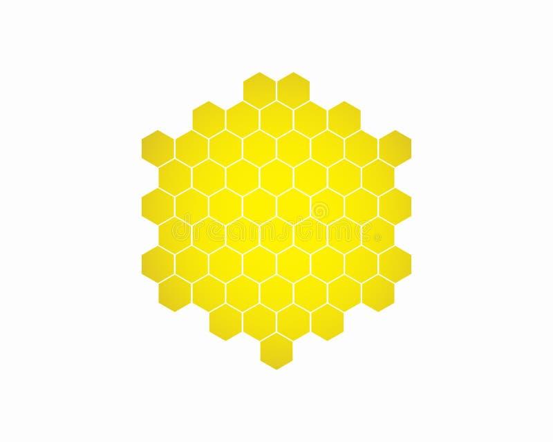 Vector del diseño del logotipo del hexágono, plantilla del logotipo del hexágono stock de ilustración