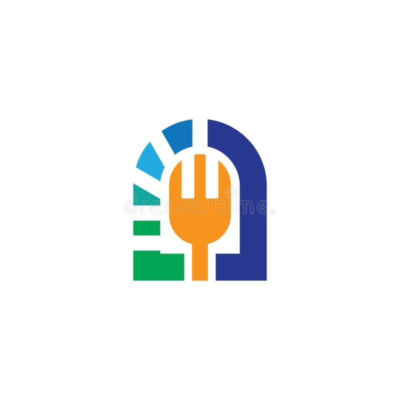 Vector del diseño del logotipo del restaurante de la bifurcación ilustración del vector