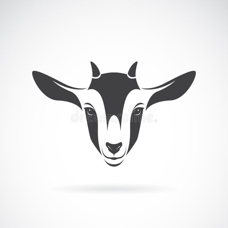 Vector del diseño principal en un fondo blanco, granja de la cabra Logotipo o icono de la cabra Ejemplo acodado editable fácil de libre illustration