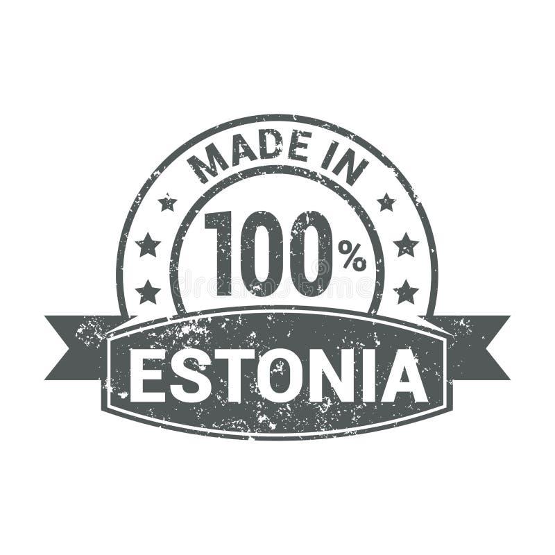 Vector del diseño del sello de Estonia libre illustration