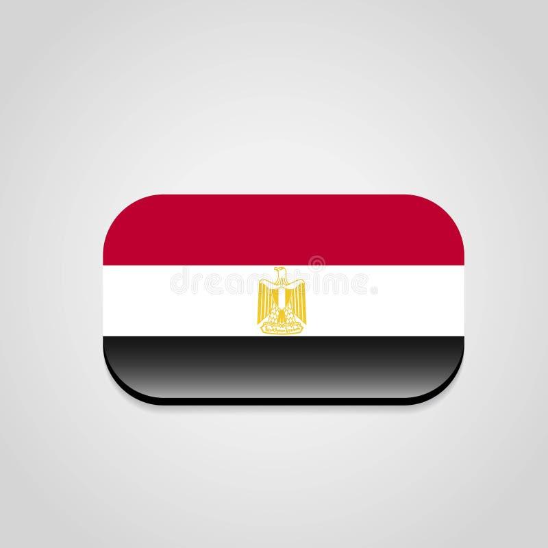 Vector del dise?o de la bandera de Egipto stock de ilustración