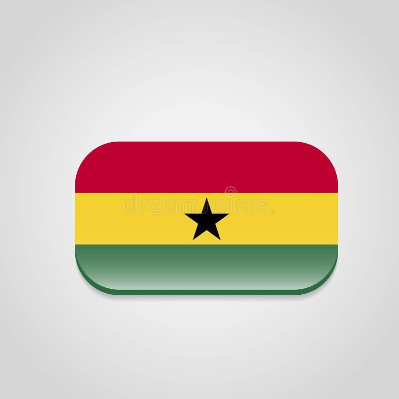 Vector del dise?o de la bandera de Ghana ilustración del vector