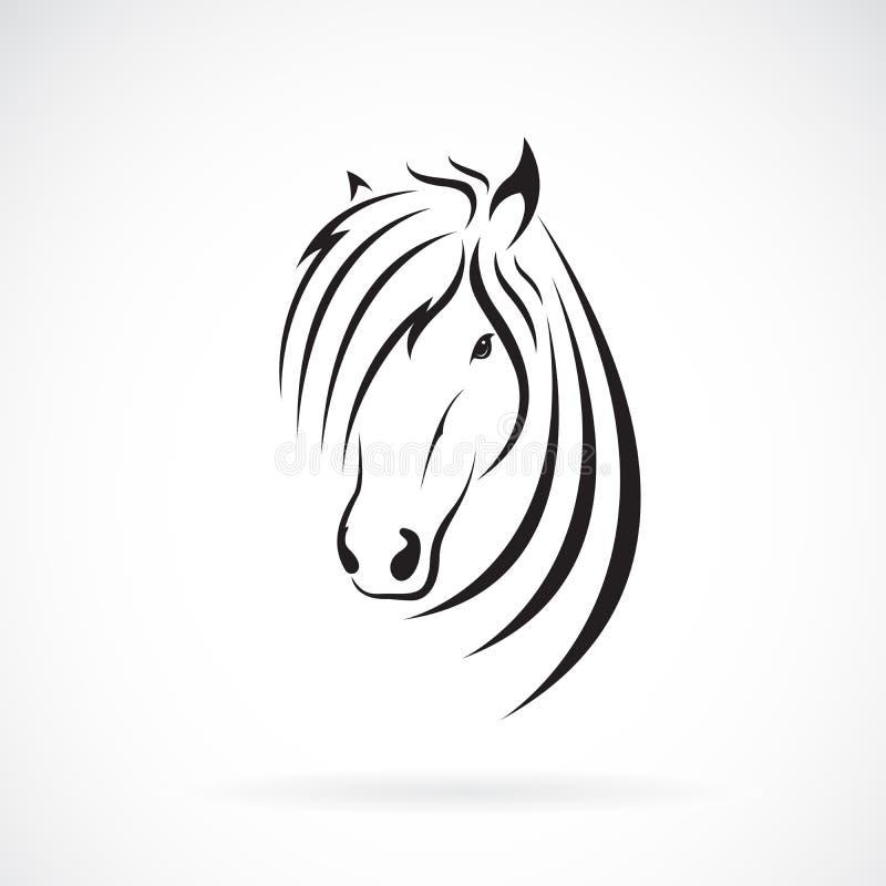 Vector del dise?o de la cabeza de caballo en un fondo blanco Animales salvajes Logotipo o icono del caballo Ejemplo acodado edita libre illustration