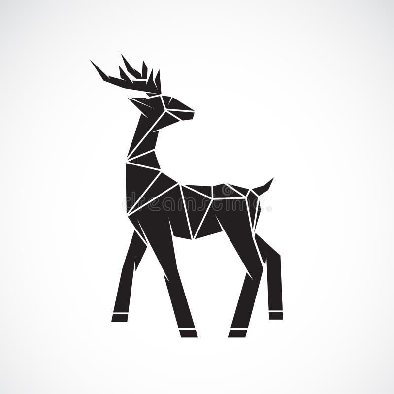 Vector del dise?o de los ciervos en el fondo blanco Animales salvajes Logotipo o icono de los ciervos Ejemplo acodado editable f? libre illustration