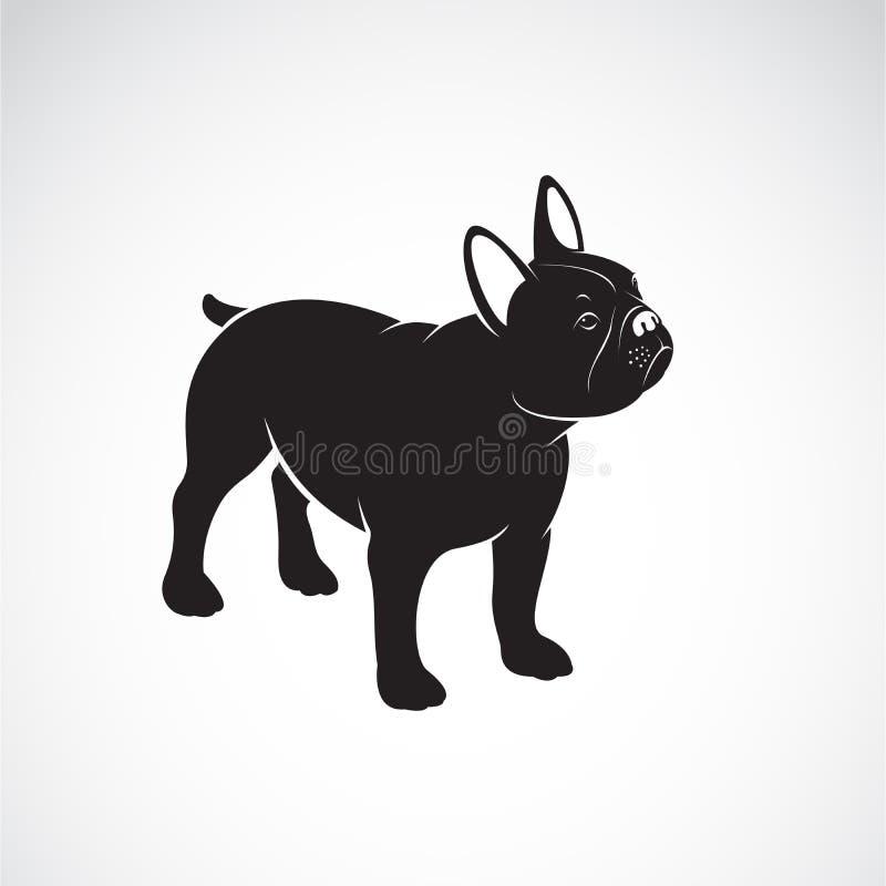 Vector del dise?o del dogo en el fondo blanco pet Animales Logotipo o icono del perro Ejemplo acodado editable f?cil del vector ilustración del vector