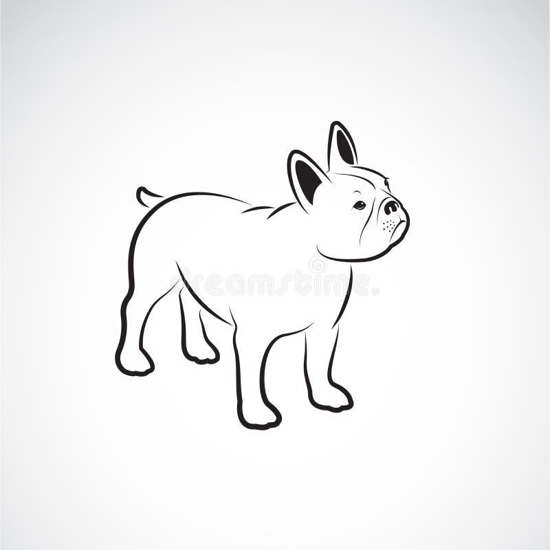 Vector del dise?o del dogo en el fondo blanco pet Animales Logotipo o icono del perro Ejemplo acodado editable f?cil del vector libre illustration