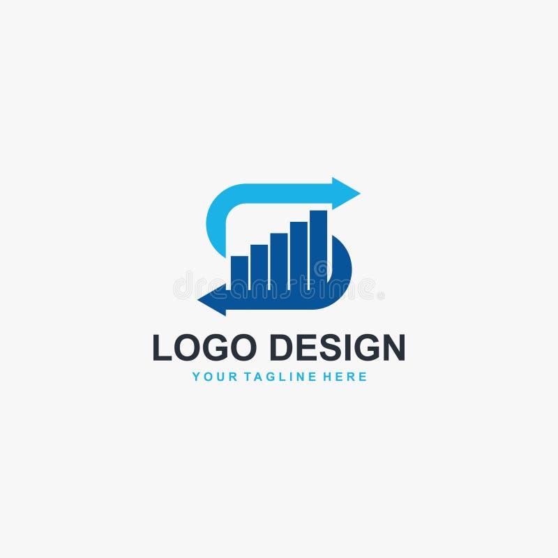 Vector del dise?o del logotipo del gr?fico de la letra S Dise?o financiero del logotipo libre illustration