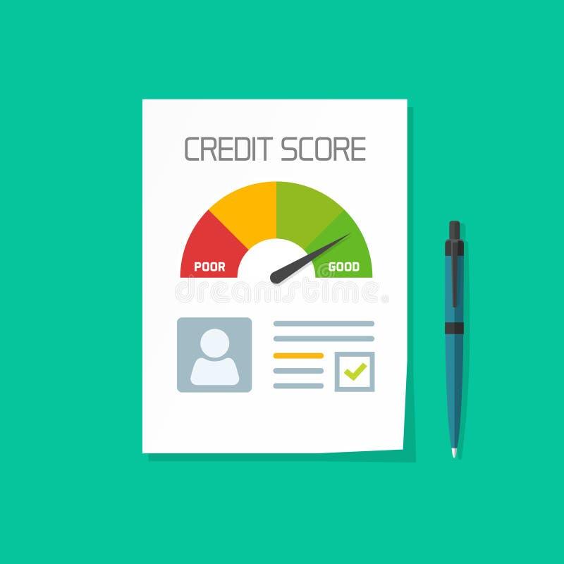 Vector del documento de la cuenta de crédito, carta de papel de la hoja de datos personales libre illustration