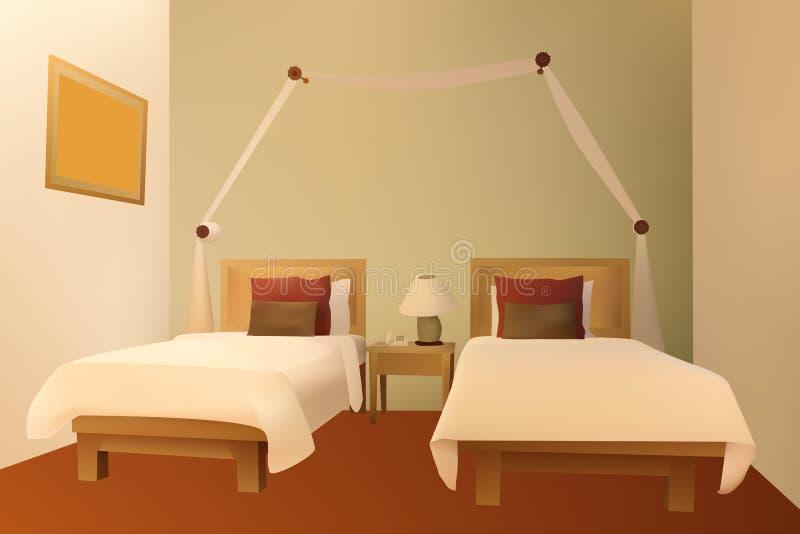 Vector del dormitorio ilustración del vector