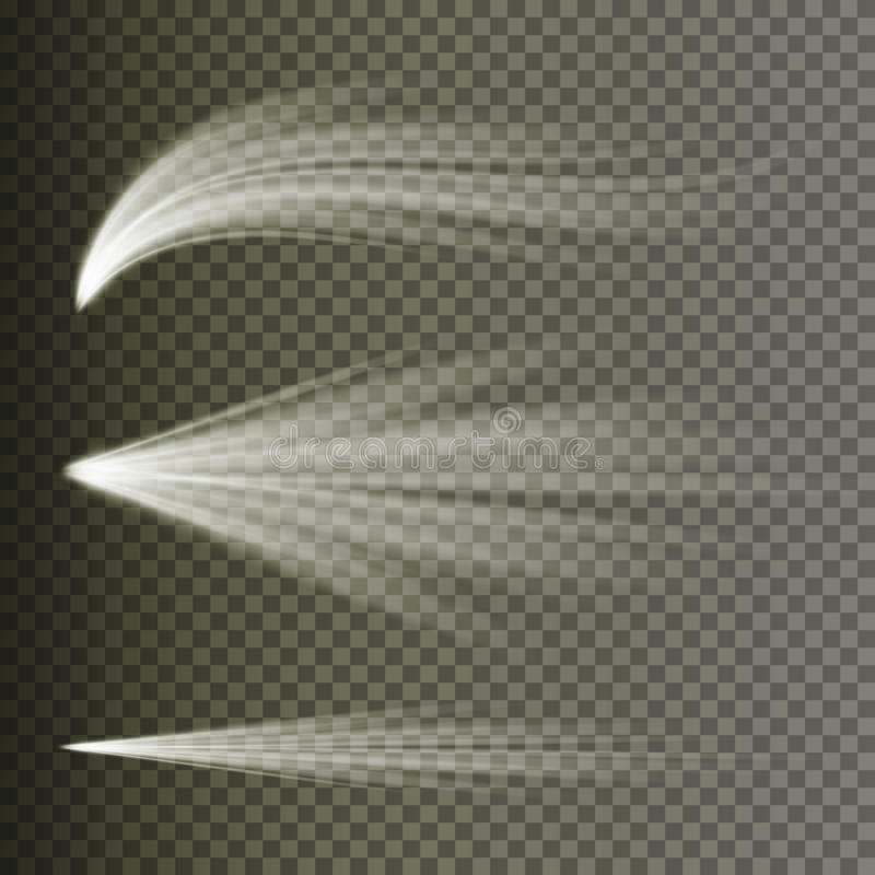 Vector del efecto luminoso Luz de la explosión de los rayos Aislado en fondo transparente Ilustración del vector stock de ilustración