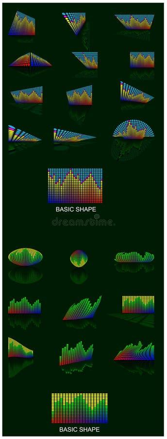 Vector del equalizador de la iluminación imagen de archivo libre de regalías