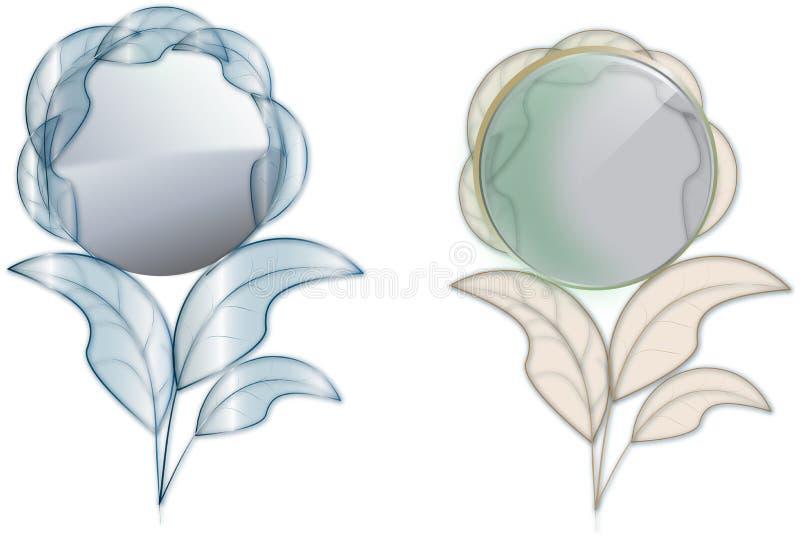 Vector del espejo de mano stock de ilustración
