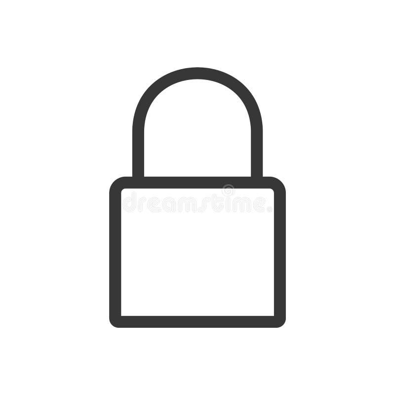 Vector del esquema de la cerradura Icono plano del estilo de la cerradura Muestra de la seguridad Icono de la cerradura en estilo ilustración del vector