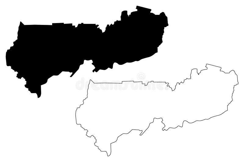 Vector del este superior del mapa de la región libre illustration