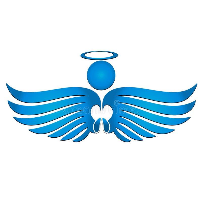 Vector del extracto del ángel azul stock de ilustración