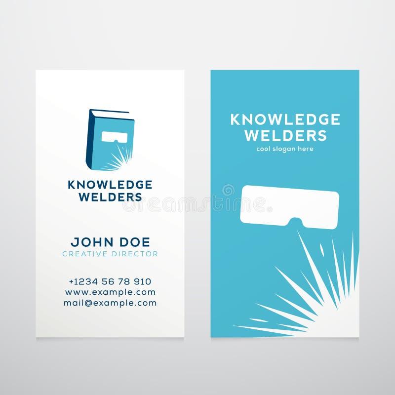 Vector del extracto de la educación de los soldadores del conocimiento stock de ilustración