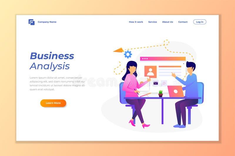vector del fondo de la bandera de la web para el análisis de datos, el márketing digital, el trabajo en equipo, la estrategia emp stock de ilustración