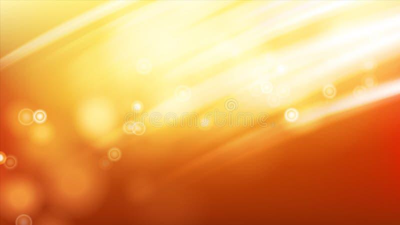 Vector del fondo de la luz del sol Efecto luminoso de la llamarada de la luz del sol cielo del verano Energía hermosa Ilustración ilustración del vector