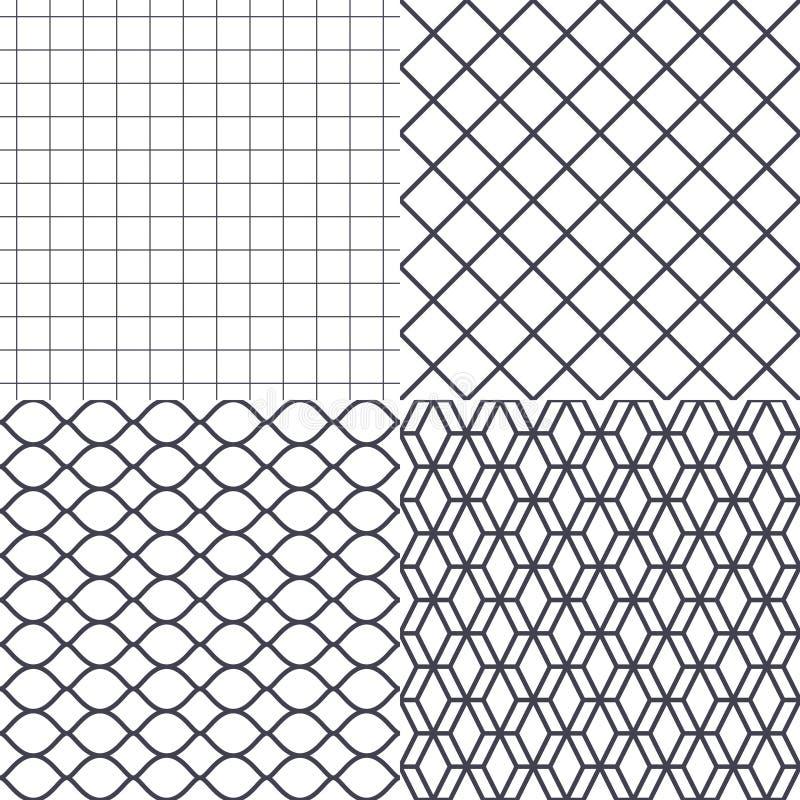 Vector del fondo de la red, del alambre y de la jaula ilustración del vector