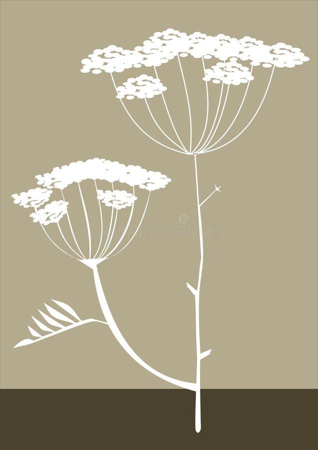 Vector del fondo de la silueta de las hierbas ilustración del vector