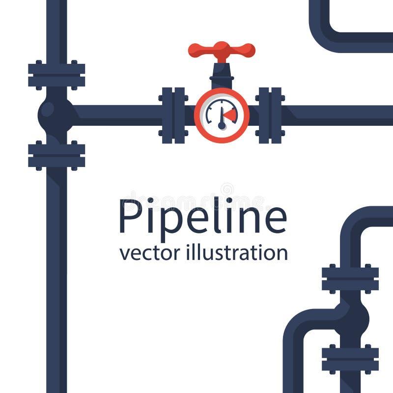 Vector del fondo de la tubería libre illustration