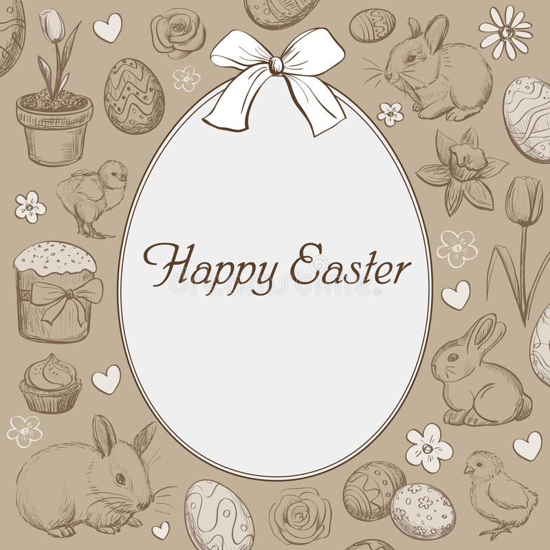 Vector del fondo del día de fiesta de Pascua libre illustration
