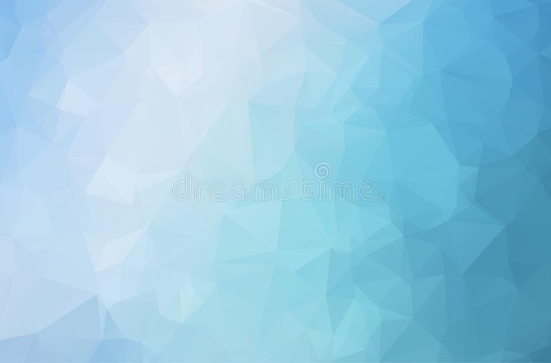 Vector del fondo del extracto del polígono del azul de océano Fondo oscuro abstracto del mosaico del triángulo Ejemplo geométrico libre illustration
