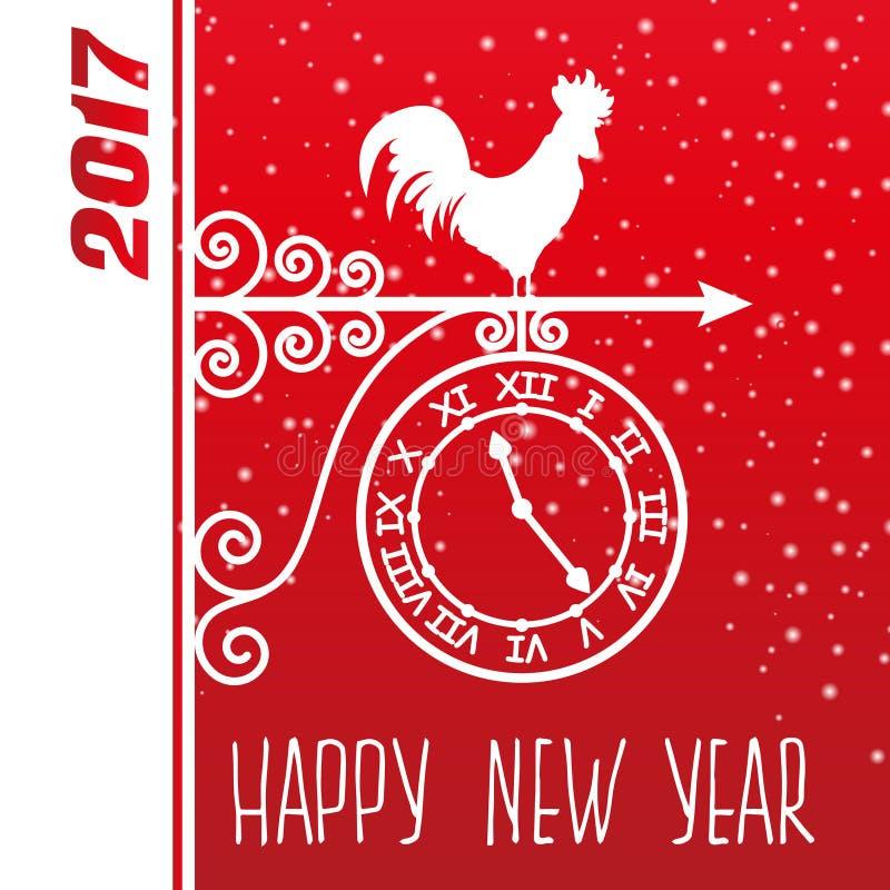 Vector del gallo del Año Nuevo de la tarjeta libre illustration