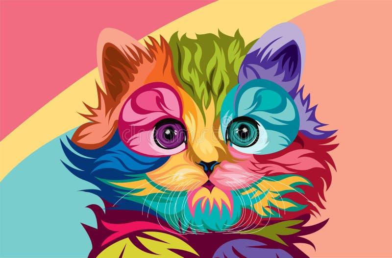 Vector del gato lowpoly stock de ilustración