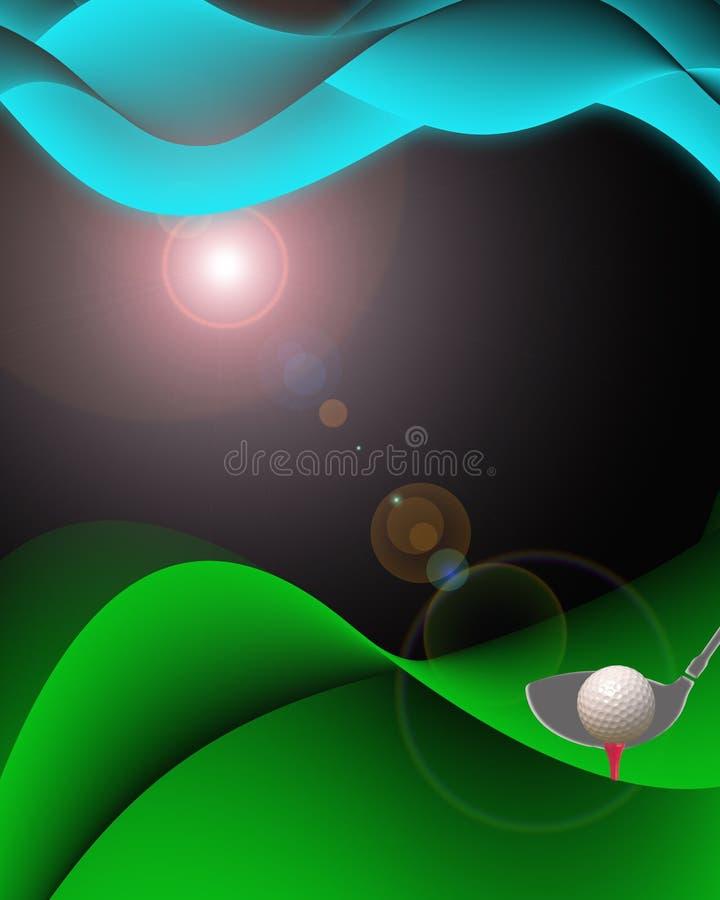 Vector del golf stock de ilustración