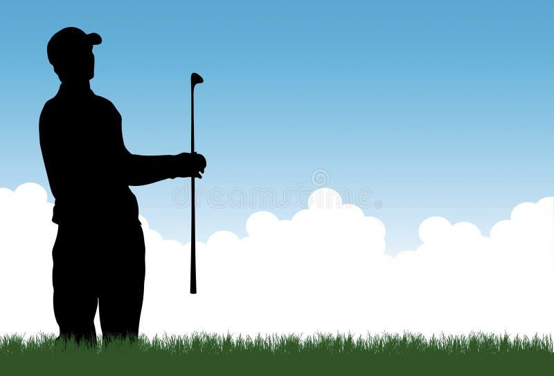 Vector del golfista libre illustration