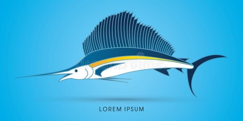 Vector del gráfico del pez volador libre illustration