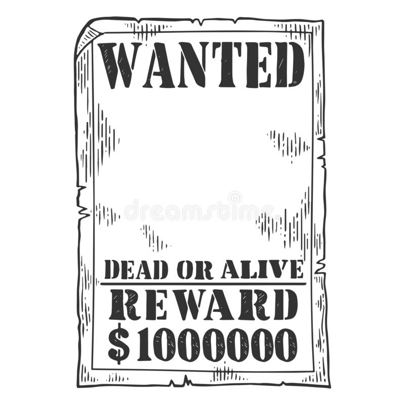 Vector del grabado de la plantilla del cartel querido stock de ilustración