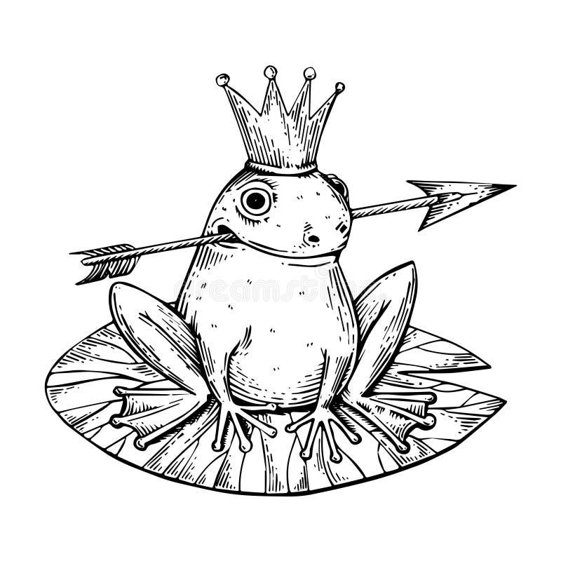Vector del grabado de princesa Frog libre illustration