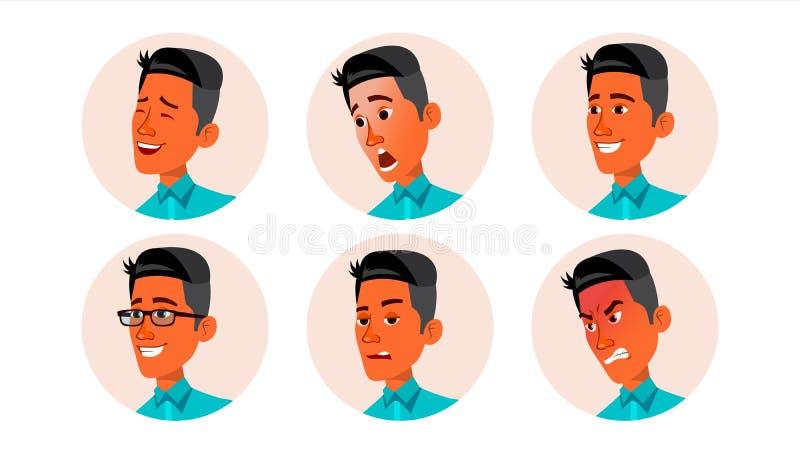 Vector del hombre del icono de Avatar Placeholder del defecto Pictograma fuerte Ejemplo plano del carácter stock de ilustración