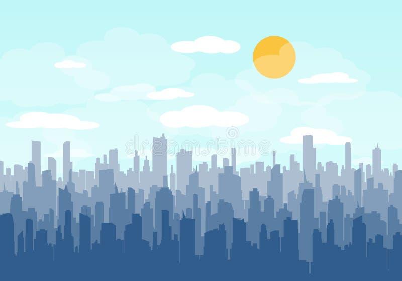 Vector del horizonte de la ciudad ilustración del vector