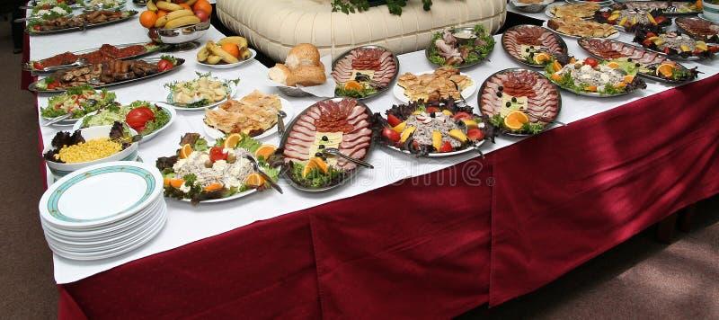 Vector del hotel por completo del alimento sabroso imagen de archivo libre de regalías